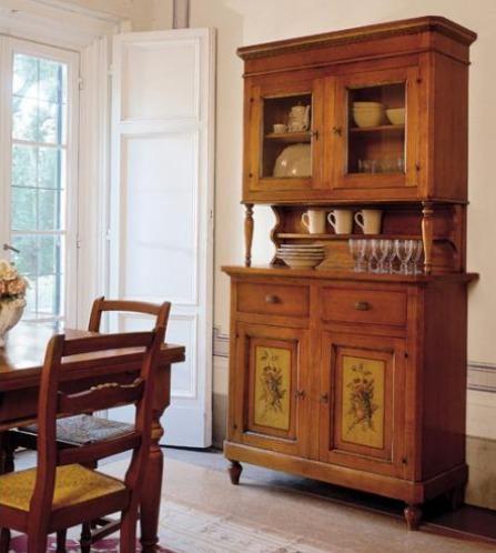 Cristalleria rustica legno massello ante a vetro - Tende casa rustica ...