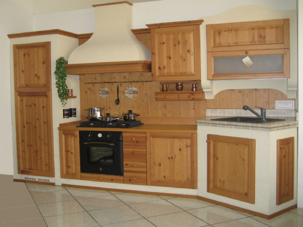 Preferenza cucina rustica: legno, materiali naturali JE71