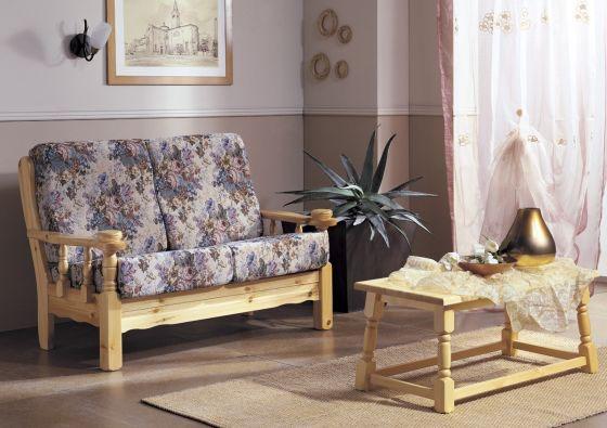 Divani e poltrone rustiche tessuto legno pelle for Divani rustici