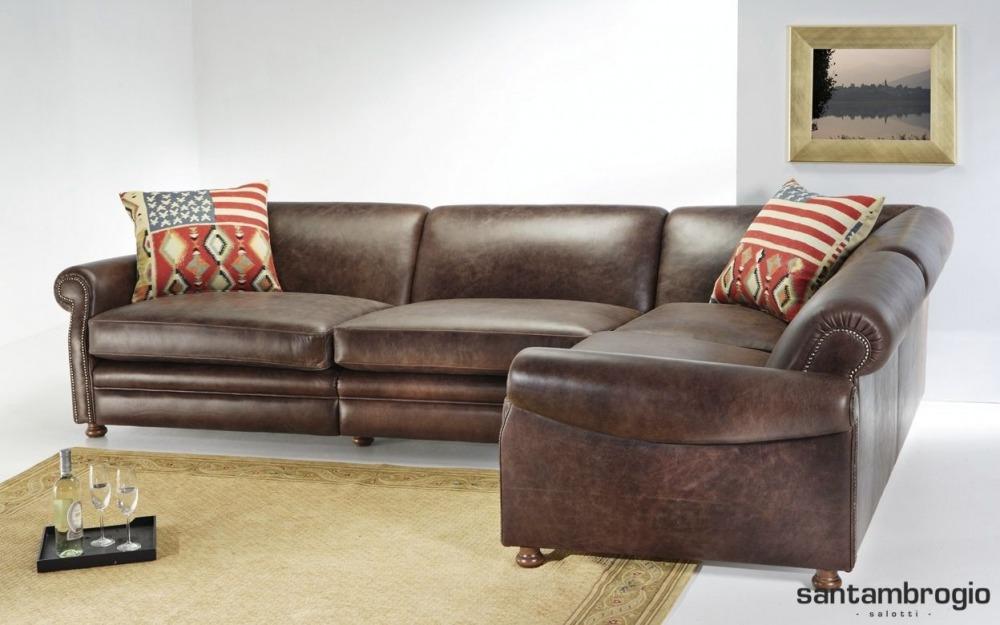 divani in pelle rustici calore