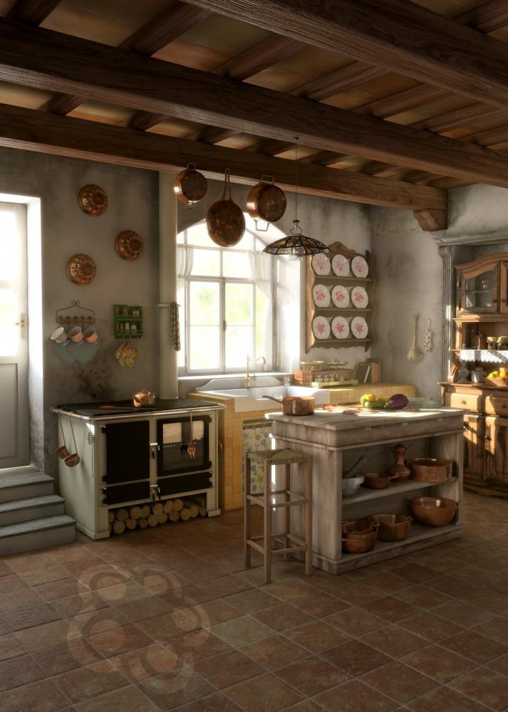 Casa rustica arredamento et42 regardsdefemmes for Arredo cucina rustica