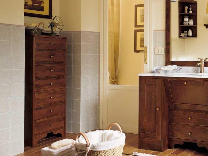 Mobili Rustici Bagno : Mobili bagno rustico: legno ferro battuto