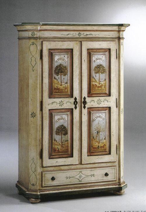 Mobili dipinti decorazione artigianale - Decori in legno per mobili ...