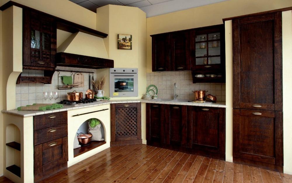 Piccola Credenza Rustica : Credenza rustica legno massello vetro