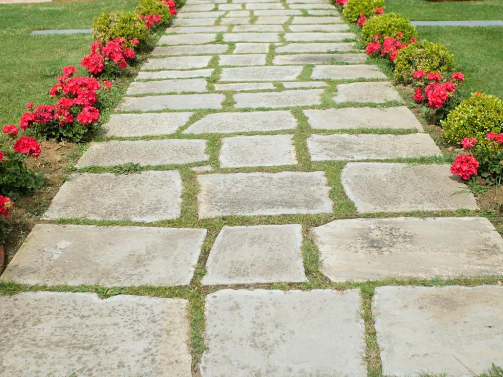 pavimenti giardino rustico cotto legno pietra
