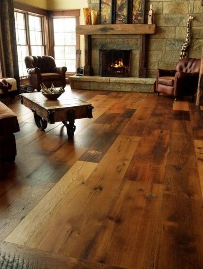 pavimenti soggiorno rustico: cotto, legno