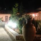 illuminazione giardino rustico