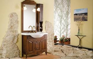 Lavabo bagno rustico